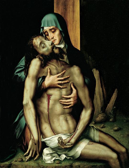 フリー絵画 ルイス・デ・モラレス作「ピエタ」