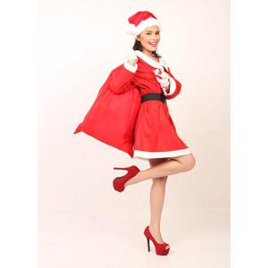 フリー写真, 人物, 女性, アジア人女性, 女性(00069), フィリピン人, 年中行事, クリスマス, 12月, 冬, サンタの衣装