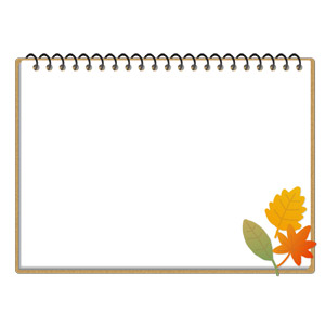 フリーイラスト, ベクター画像, AI, 背景, フレーム, 囲みフレーム, スケッチブック, 画材, 植物, 葉っぱ, 落葉(落ち葉), 紅葉(黄葉), 秋