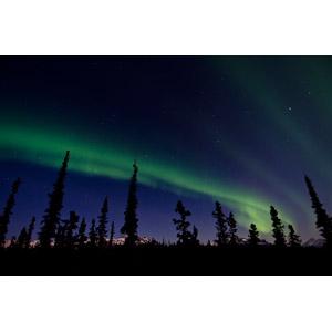 フリー写真, 風景, 自然, 夜, 夜空, オーロラ, アメリカの風景, アラスカ州, デナリ国立公園