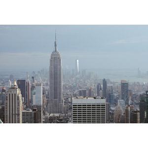 フリー写真, 風景, 建造物, 建築物, 高層ビル, 都市, 街並み(町並み), アメリカの風景, ニューヨーク, GEビルディング, ワン・ワールドトレードセンター