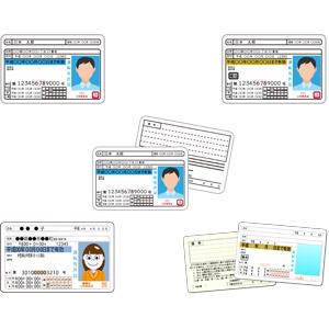 フリーイラスト, ベクター画像, AI, 運転免許証, 証明写真