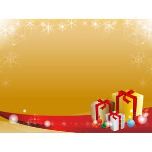 フリーイラスト, ベクター画像, AI, 背景, フレーム, 囲みフレーム, 年中行事, クリスマス, 12月, 冬, クリスマスプレゼント, クリスマスボール, ポインセチア, 雪の結晶