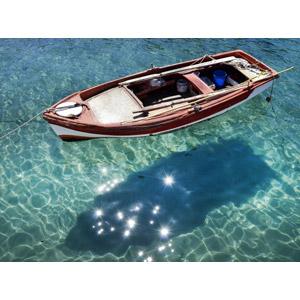 フリー写真, 乗り物, 船, 手漕ぎボート, 海, エーゲ海, ギリシャの風景
