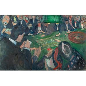 フリー絵画, エドヴァルド・ムンク, 風俗画, カジノ, 賭博(ギャンブル), ルーレット, モナコ