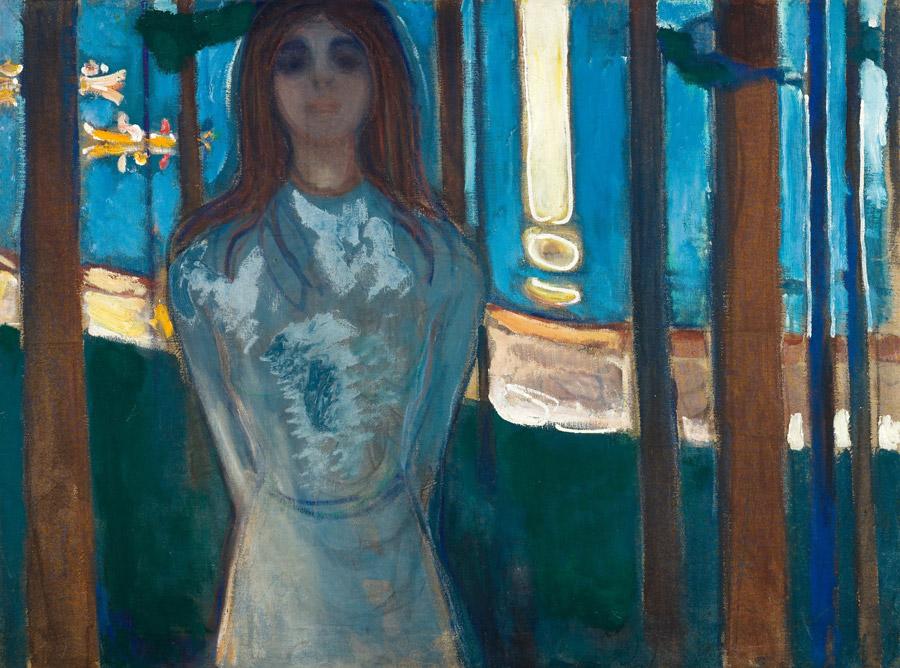 フリー絵画 エドヴァルド・ムンク作「声/夏の夜」