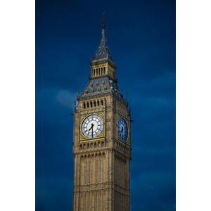フリー写真, 風景, 建造物, 建築物, 塔(タワー), 時計台, 時計, イギリスの風景, ロンドン, 日暮れ