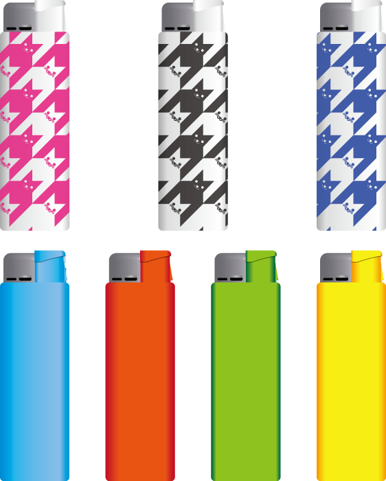 フリーイラスト 7種類のライターのセット