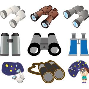 フリーイラスト, ベクター画像, AI, 双眼鏡, バードウォッチ, 天体観測, 星座, 星(スター)