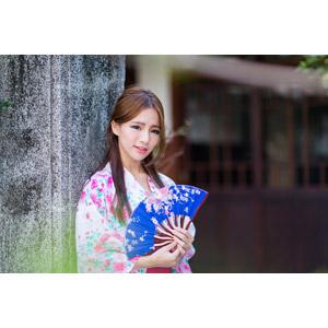 フリー写真, 人物, 女性, アジア人女性, Dora(00078), 中国人, 和服, 浴衣, 扇子