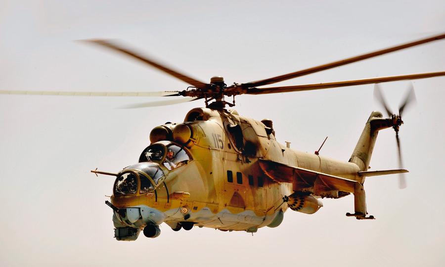 フリー写真 Mi-35攻撃ヘリコプター