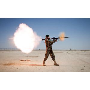 フリー写真, 人物, 男性, 外国人男性, 兵士, 兵器, 対戦車ロケット弾, アフガン軍