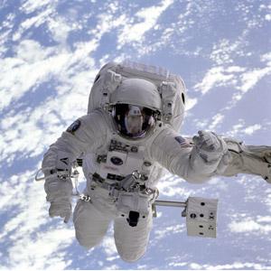 フリー写真, 人物, 宇宙飛行士, 宇宙服, 人と風景, 地球, 宇宙, 職業, 仕事