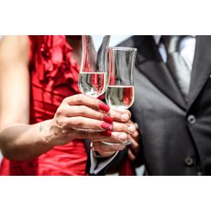 フリー写真, 人体, 手, カップル, 二人, 飲み物(飲料), お酒, シャンパン, シャンパングラス