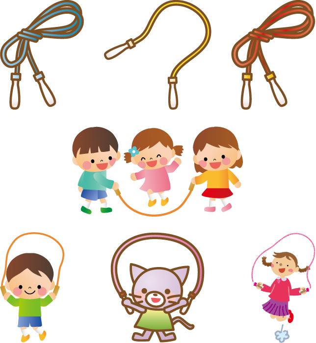フリーイラスト 7種類の縄跳びのセット
