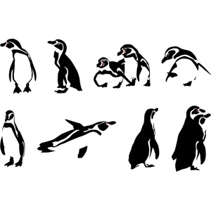 フリーイラスト, ベクター画像, AI, 動物, 鳥類, ペンギン, フンボルトペンギン