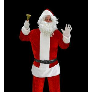 フリー写真, 人物, 年中行事, クリスマス, 12月, 冬, サンタクロース, ハンドベル, 黒背景