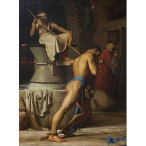 フリー絵画, カール・ハインリッヒ・ブロッホ, 宗教画, 旧約聖書, サムソン, ペリシテ人