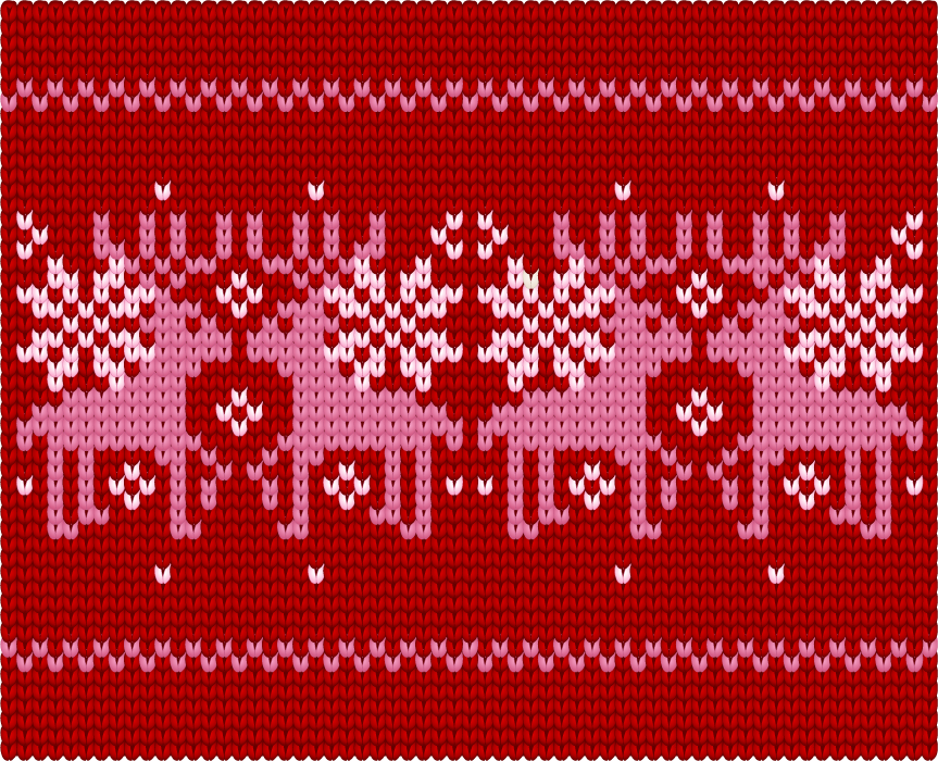 フリーイラスト 毛糸で編まれたトナカイの背景