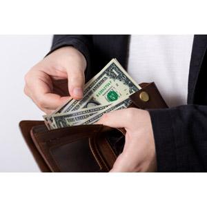 フリー写真, 人体, 手, お金, 紙幣, 1ドル札, アメリカドル, 財布