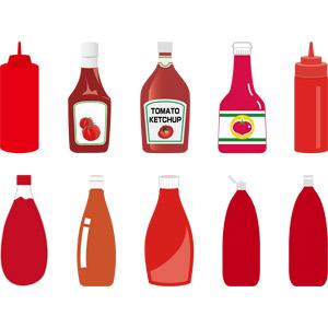 フリーイラスト, ベクター画像, AI, 食べ物(食料), 調味料, ケチャップ