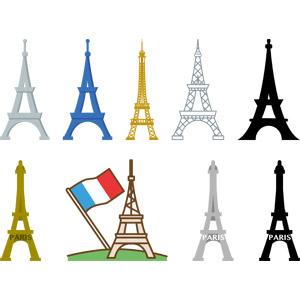 フリーイラスト, ベクター画像, AI, 建造物, 建築物, 塔(タワー), エッフェル塔, パリ