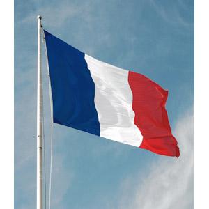 フリー写真, 青空, 国旗, 旗(フラッグ), フランスの国旗