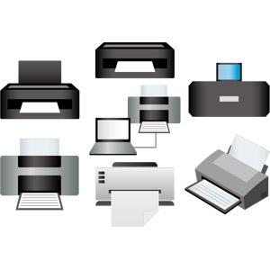 フリーイラスト, ベクター画像, AI, 家電機器, パソコンの周辺機器, プリンター