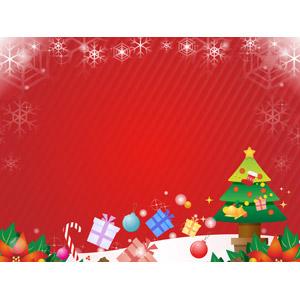 フリーイラスト, ベクター画像, AI, 背景, フレーム, 囲みフレーム, 雪の結晶, 年中行事, クリスマス, 12月, 冬, クリスマスツリー, クリスマスプレゼント, ポインセチア, キャンディケイン