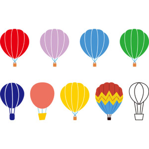 フリーイラスト, ベクター画像, AI, 乗り物, 熱気球