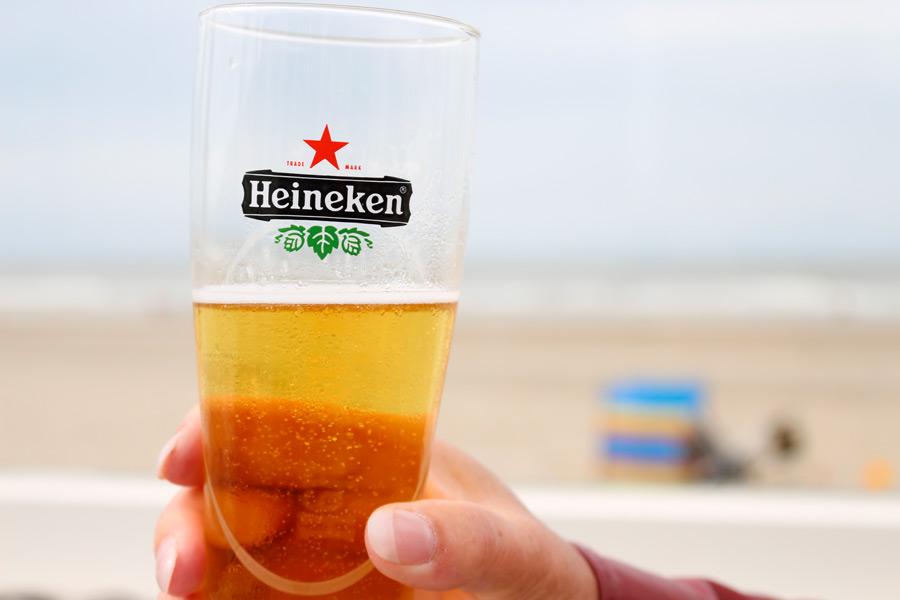 フリー写真 グラスの中のビール