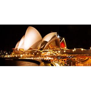 フリー写真, 風景, 建造物, 建築物, シドニー・オペラハウス, 劇場, 世界遺産, オーストラリアの風景, シドニー, 夜, 夜景