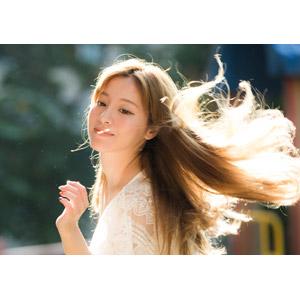 フリー写真, 人物, 女性, アジア人女性, 女性(00110), 中国人, 髪がなびく