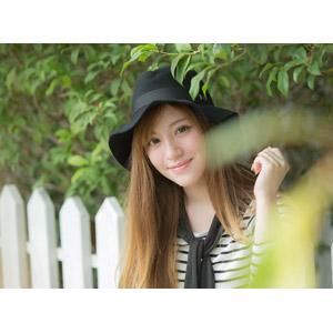 フリー写真, 人物, 女性, アジア人女性, 女性(00110), 中国人, 帽子