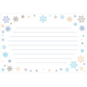 フリーイラスト, ベクター画像, AI, 背景, 便箋(便せん), 紙(ペーパー), 雪の結晶, 冬