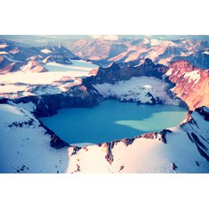 フリー写真, 風景, 自然, 山, 湖, 雪, アメリカの風景, アラスカ州