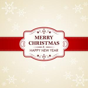フリーイラスト, ベクター画像, AI, 背景, ラベル, 年中行事, クリスマス, 12月, メリークリスマス, ハッピーニューイヤー, 雪の結晶