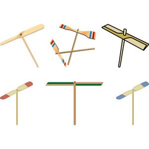 フリーイラスト, ベクター画像, AI, 玩具(おもちゃ), 子供の遊び, 竹とんぼ, 竹(タケ)