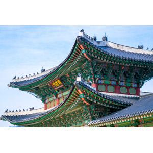 フリー写真, 風景, 建造物, 建築物, 景福宮, 宮殿(王宮), 門(ゲート), 韓国の風景, ソウル特別市