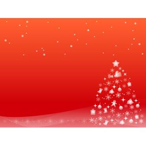 フリーイラスト, ベクター画像, AI, 背景, 年中行事, クリスマス, 12月, クリスマスツリー, 赤色(レッド), 雪, 雪の結晶, 冬
