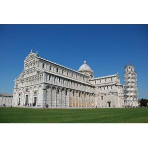 フリー写真, 風景, 建造物, 建築物, 教会(聖堂), ピサ大聖堂, 塔(タワー), ピサの斜塔, 世界遺産, イタリアの風景