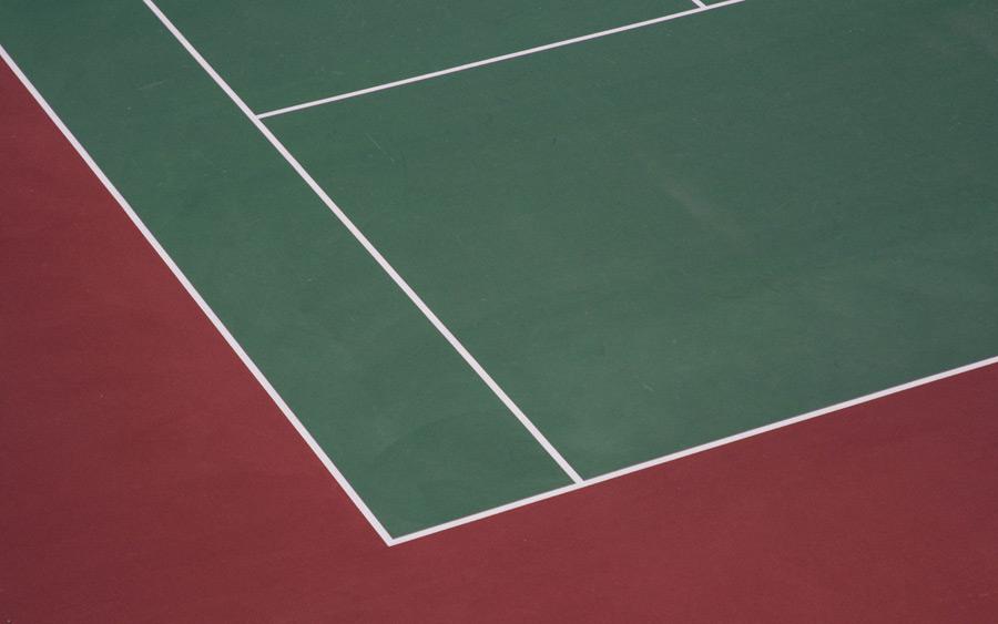 フリー写真 テニスコートの風景