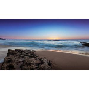 フリー写真, 風景, 自然, 海, ビーチ(砂浜), 夕暮れ(夕方), ポルトガルの風景