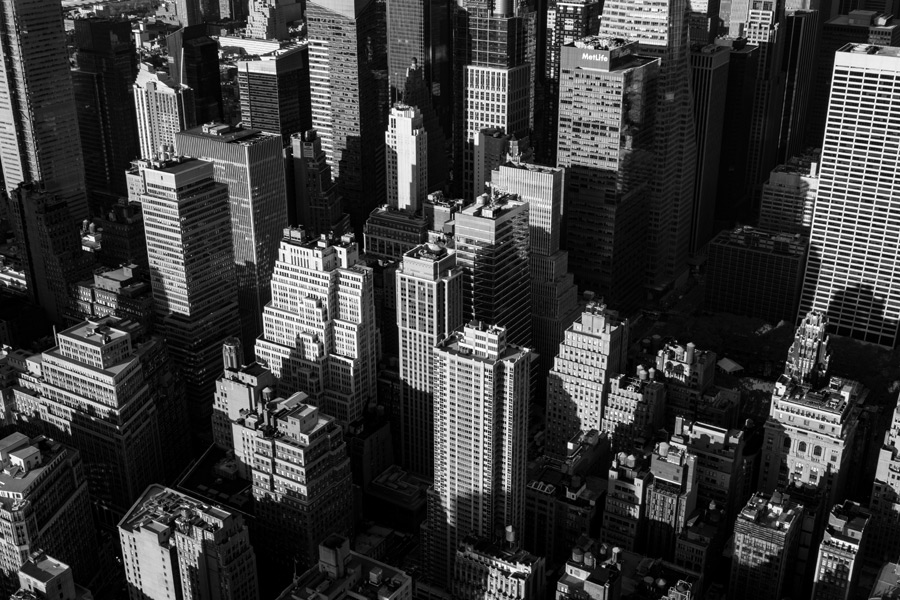 フリー写真 ニューヨークの街並みの風景