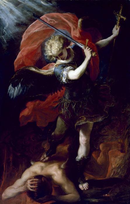 フリー絵画 クラウディオ・コエーリョ作「大天使ミカエル」