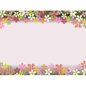 フリーイラスト, ベクター画像, AI, 背景, フレーム, 上下フレーム, 和柄, 花柄, 桜(サクラ), 花, 春