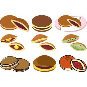 フリーイラスト, ベクター画像, AI, 食べ物(食料), 菓子, 和菓子, どら焼き(どらやき), 奈良県