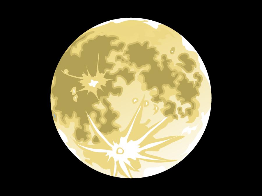 フリーイラスト 満月の風景