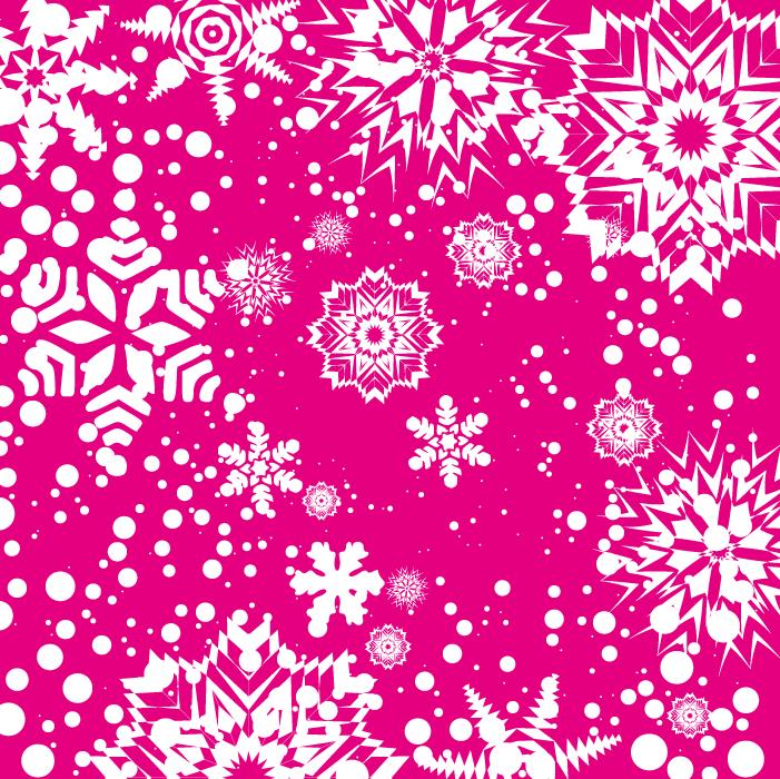 フリーイラスト 雪と結晶の背景