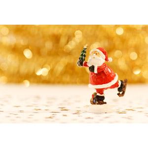 フリー写真, 人形, 年中行事, クリスマス, 12月, 冬, サンタクロース, 玉ボケ